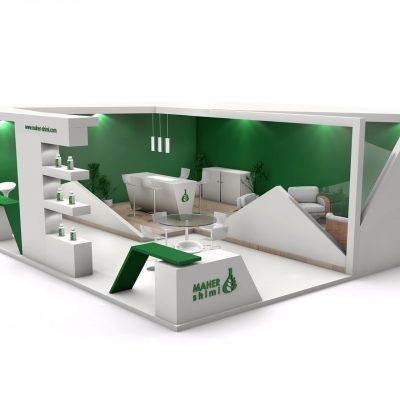 غرفه نمایشگاهی شرکت ماهرشیمی
