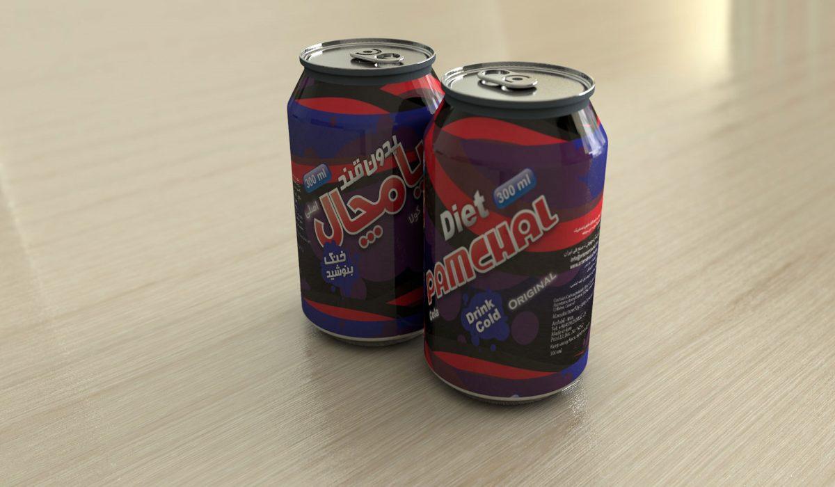 طراحی قوطی نوشیدنی پامچال-۲