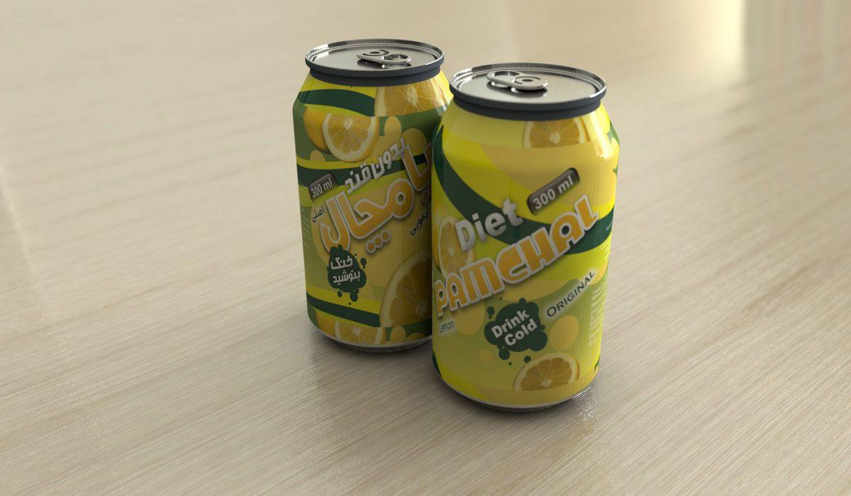 طراحی قوطی نوشیدنی پامچال